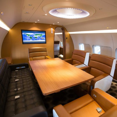BBJ Private Aircraft Interior<br>Freestream Aircraft limited 2014