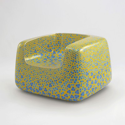 Cloisonné Yellow Chair <br>Gagosian Gallery 2019