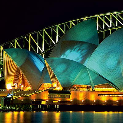 Opera House Olympic Lighting Event<br>Sydney Festival 2000