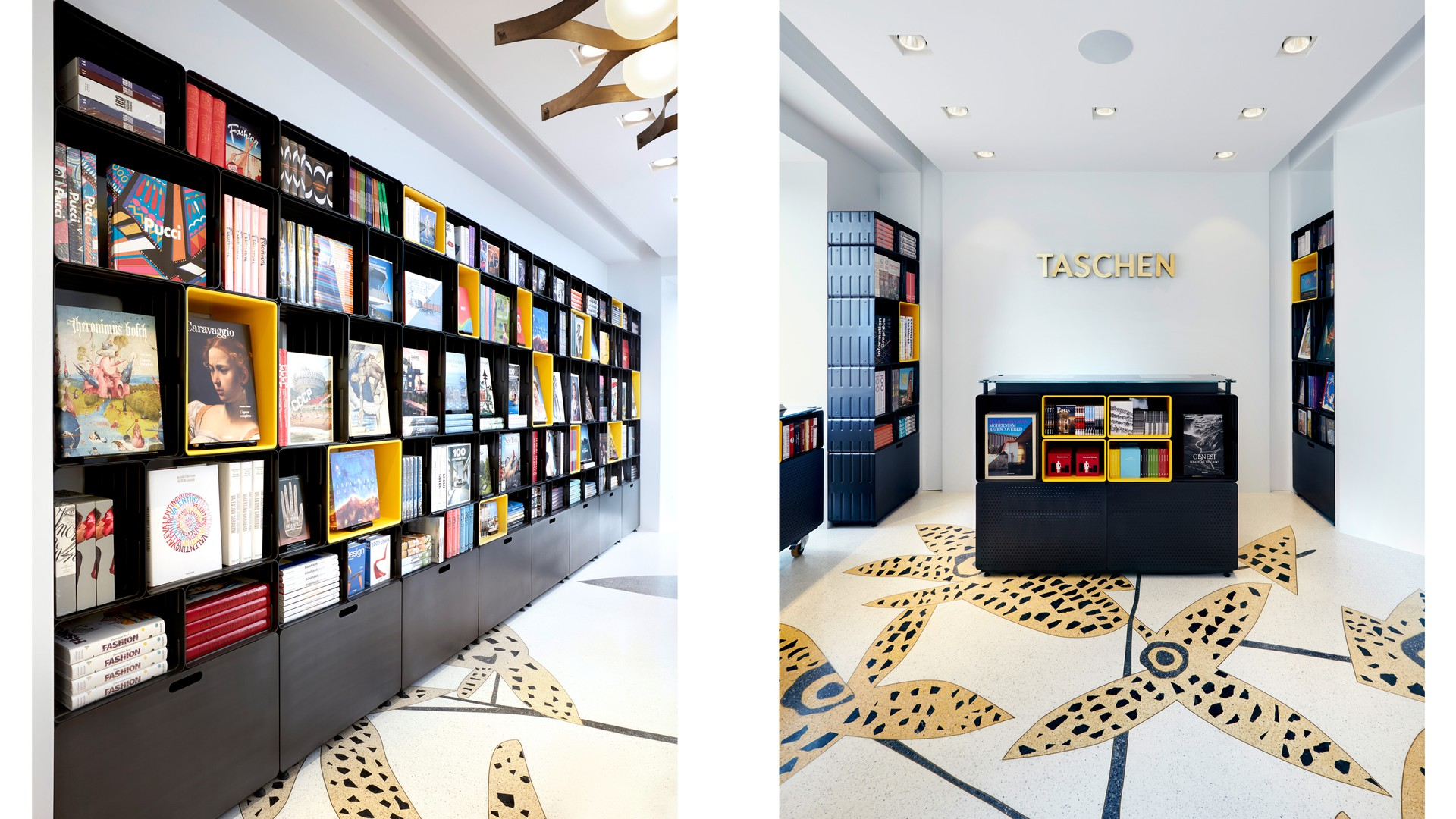 taschen milan store furniture display systems marc newson ltd. Black Bedroom Furniture Sets. Home Design Ideas